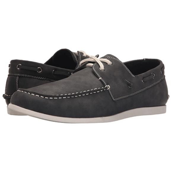 c0144d6693a Men's Steve Madden Deep Gray Boat Shoes